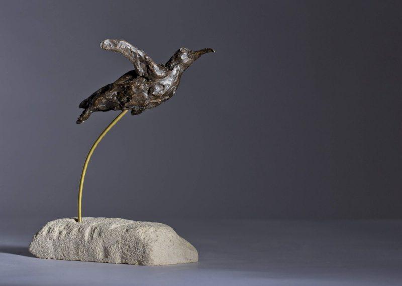 Sculpture - Bronze - Wildlife - Swimming Penguin 5