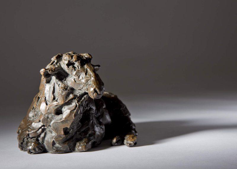 Sculpture - Bronze - Wildlife - Lying Sheep 3