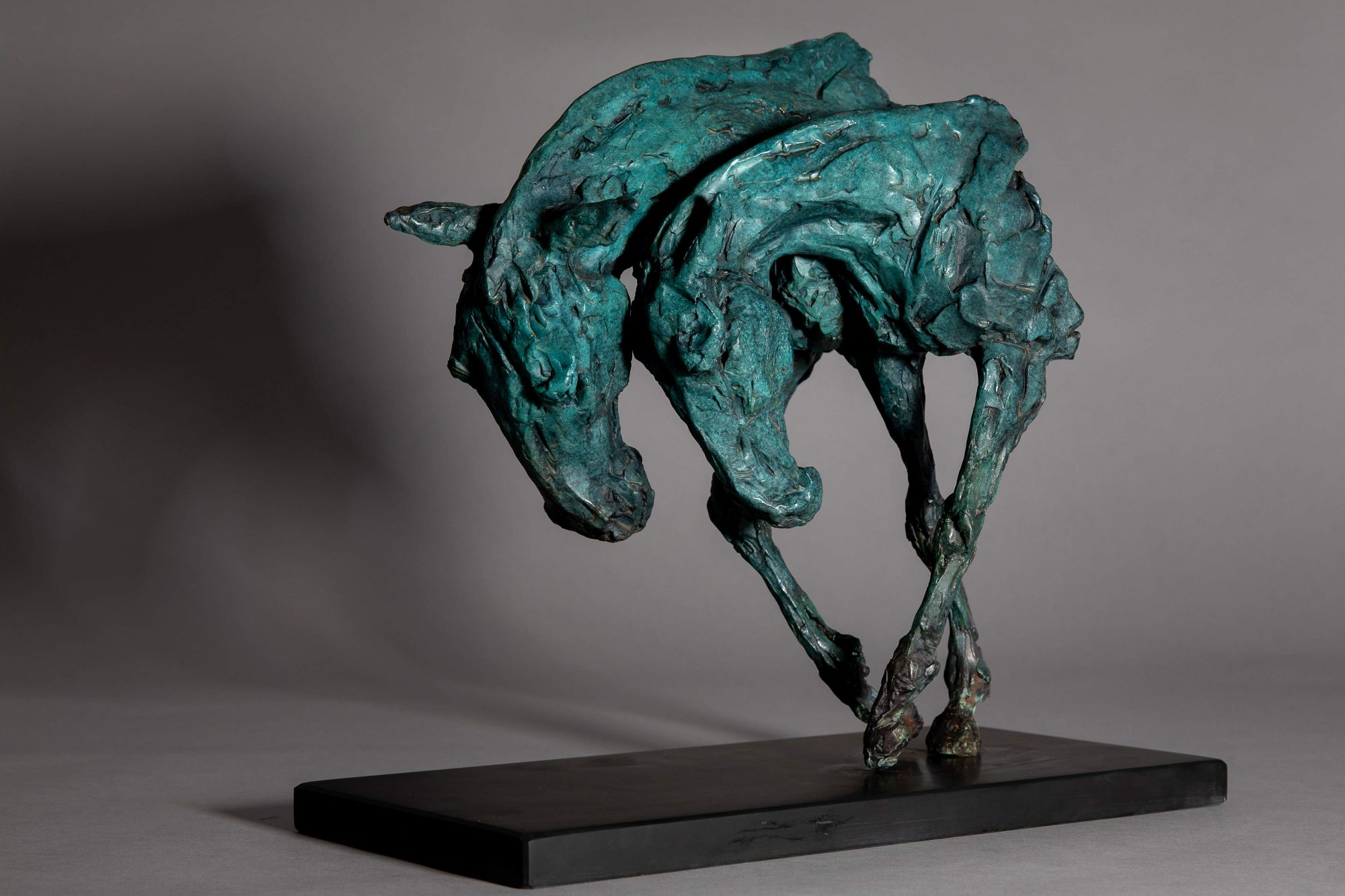 Sculpture - Bronze - Equestrian - Horse Heads 1