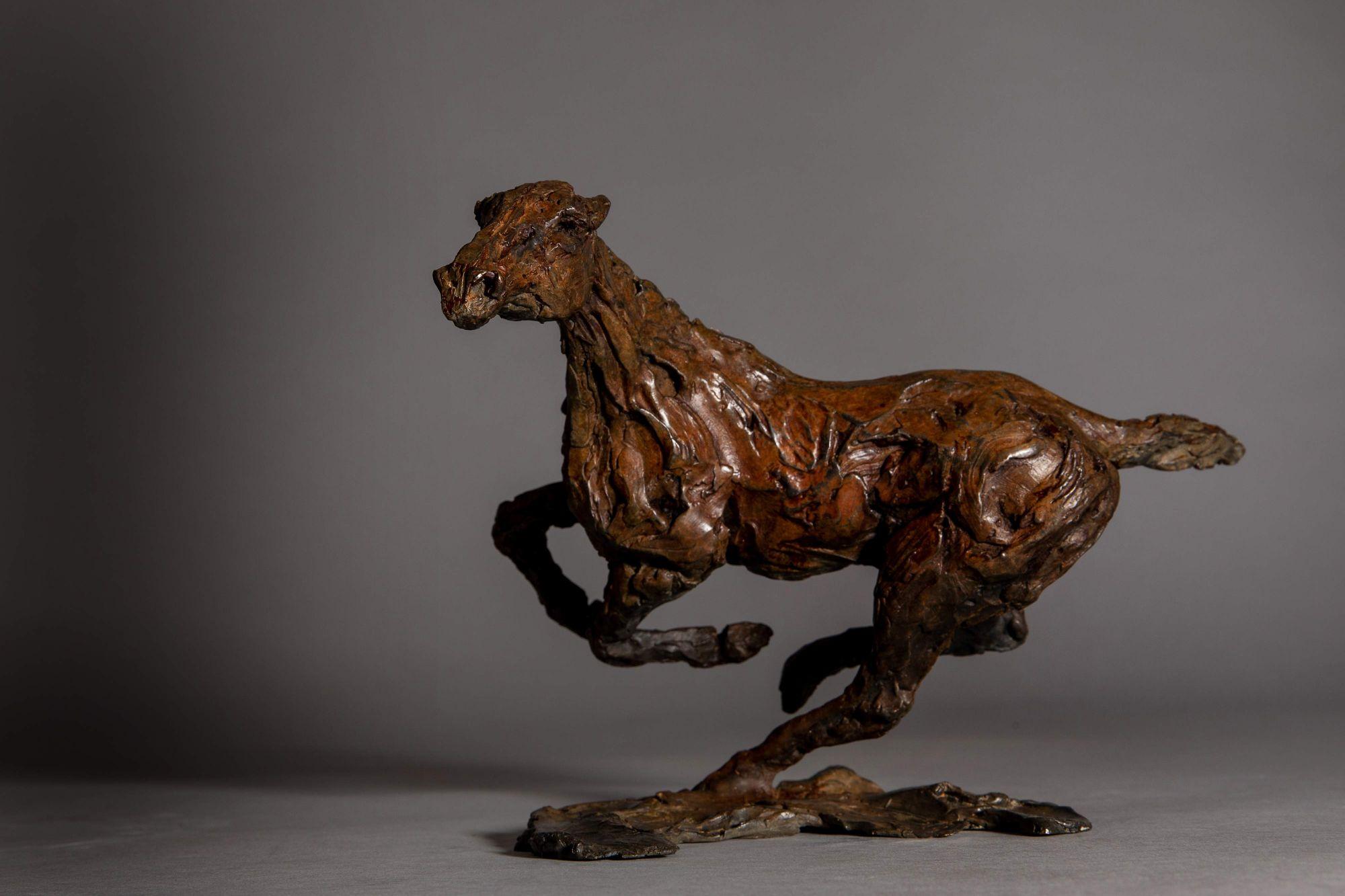 Sculpture - Bronze - Equestrian - Horse Galloping 1