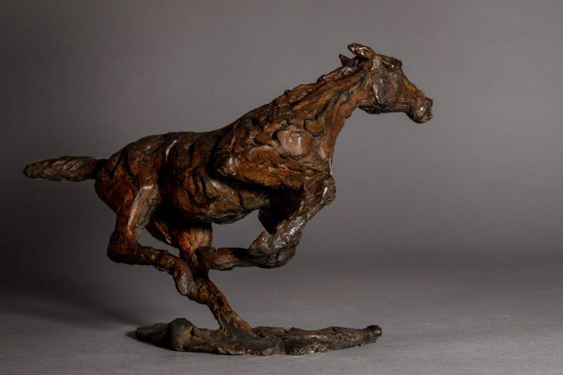 Sculpture - Bronze - Equestrian - Horse Galloping 4
