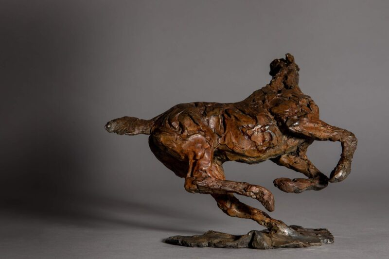 Sculpture - Bronze - Equestrian - Horse Galloping 6