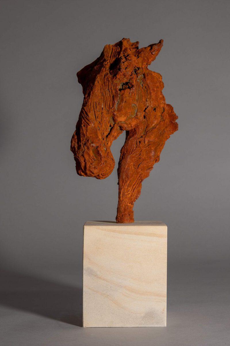 Sculpture - Bronze - Equestrian - Iron Horse Head 2