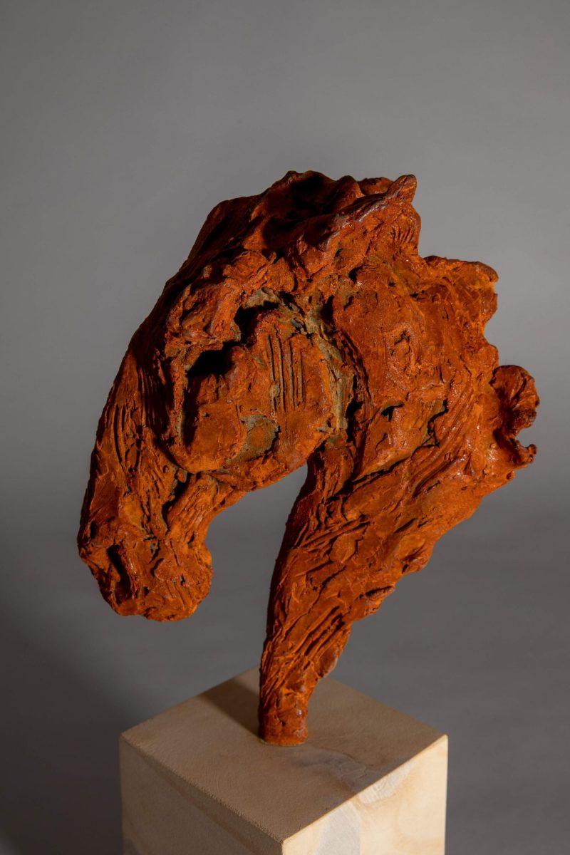 Sculpture - Bronze - Equestrian - Iron Horse Head 4