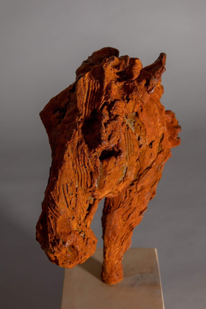 Sculpture - Bronze - Equestrian - Iron Horse Head 5