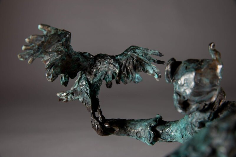 Sculpture - Bronze - Equestrian - Mongolian Horse Eagle 6