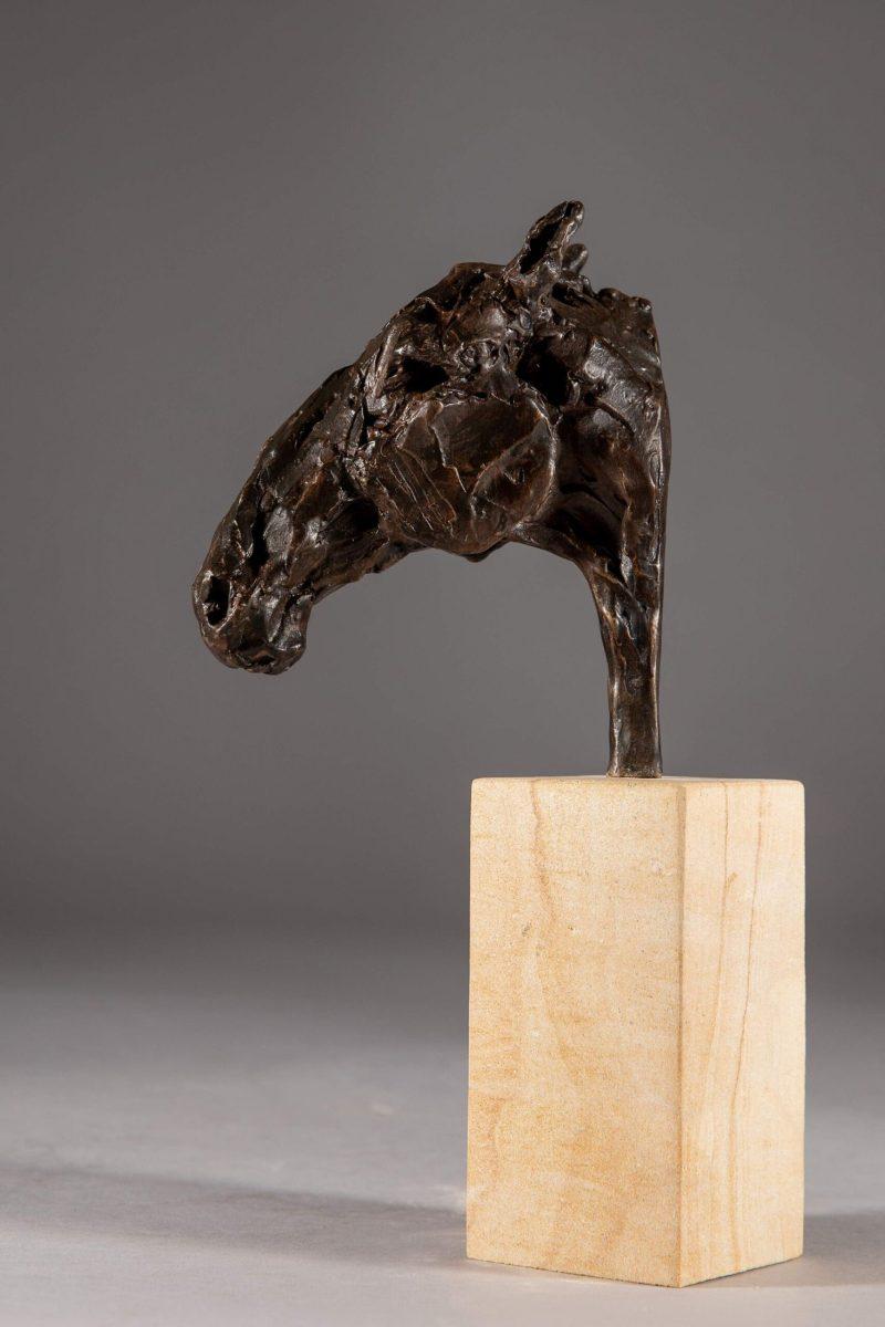 Sculpture - Bronze - Equestrian - Roman Horse Head 4