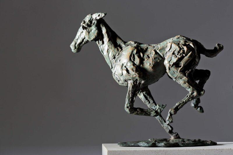 Sculpture - Bronze - Equestrian - Galloping Horses 7