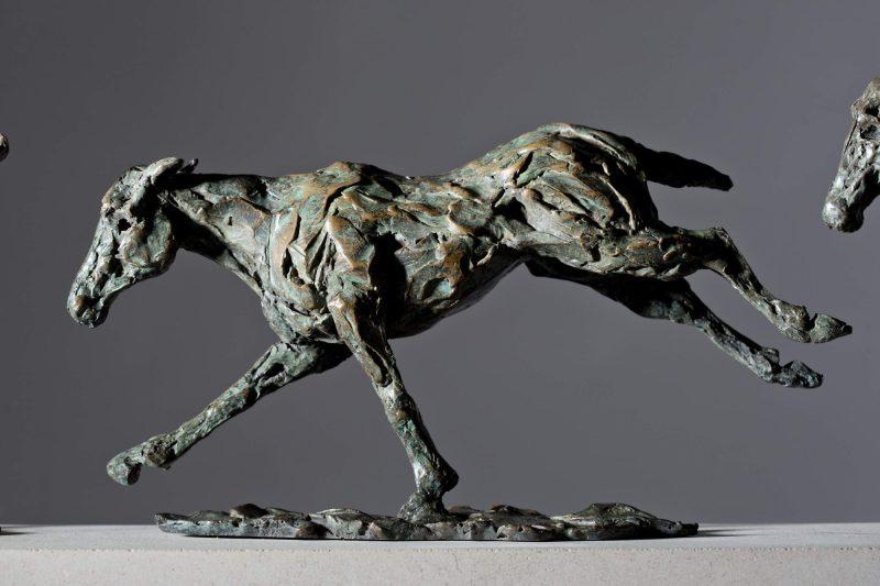 Sculpture - Bronze - Equestrian - Galloping Horses 8