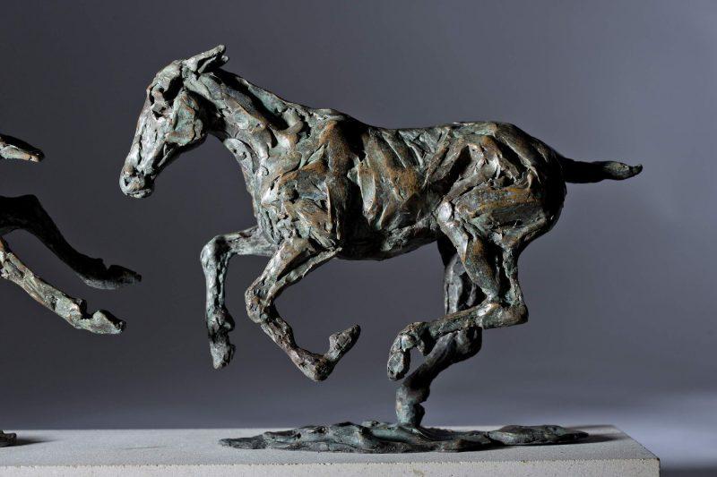 Sculpture - Bronze - Equestrian - Galloping Horses 9