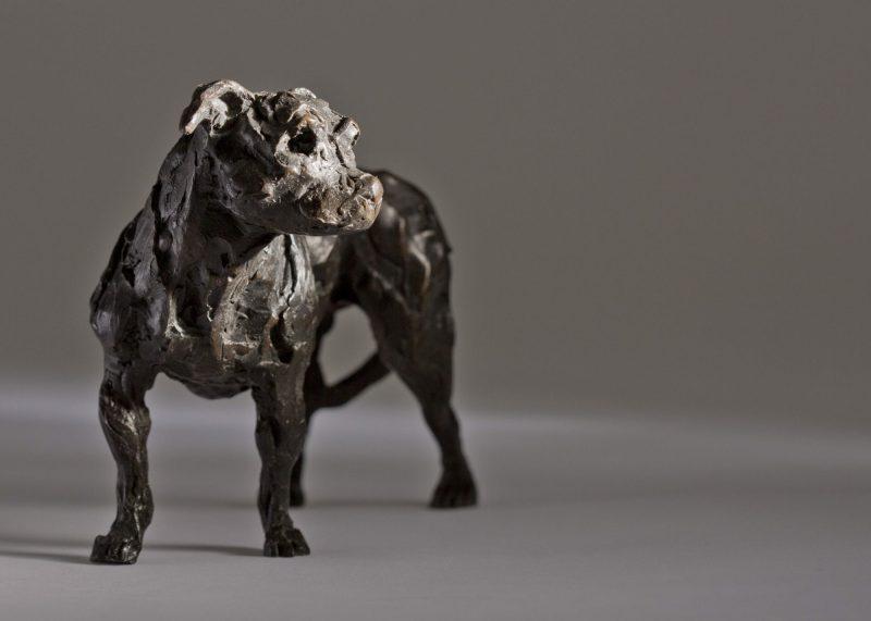 Sculpture - Bronze - Domestic Animal - Standing Staffordshire Bull Terrier 2