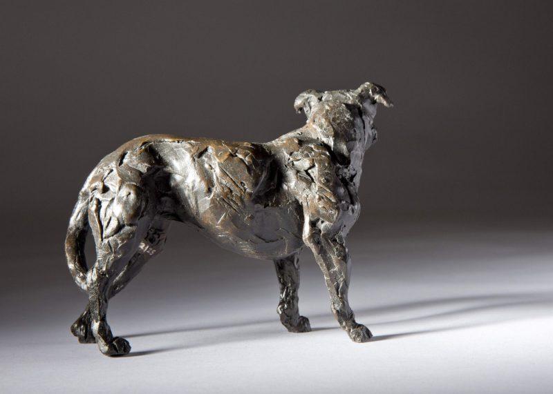 Sculpture - Bronze - Domestic Animal - Standing Staffordshire Bull Terrier 3