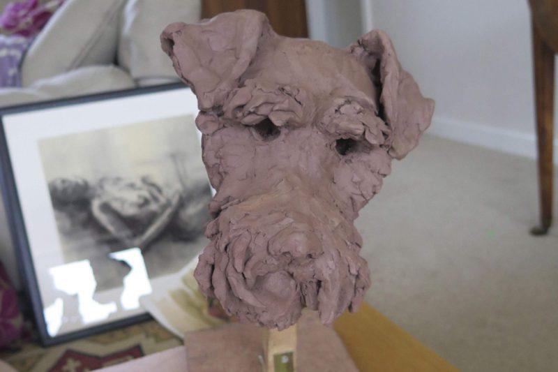 Sculpture - Bronze - Domestic Dog - Terrier Head 3