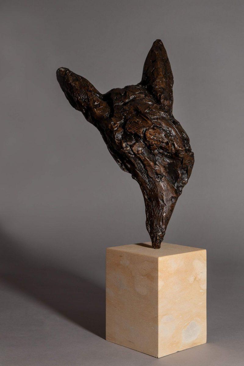 Sculpture - Bronze - Domestic Dog - Bull Terrier Head 3