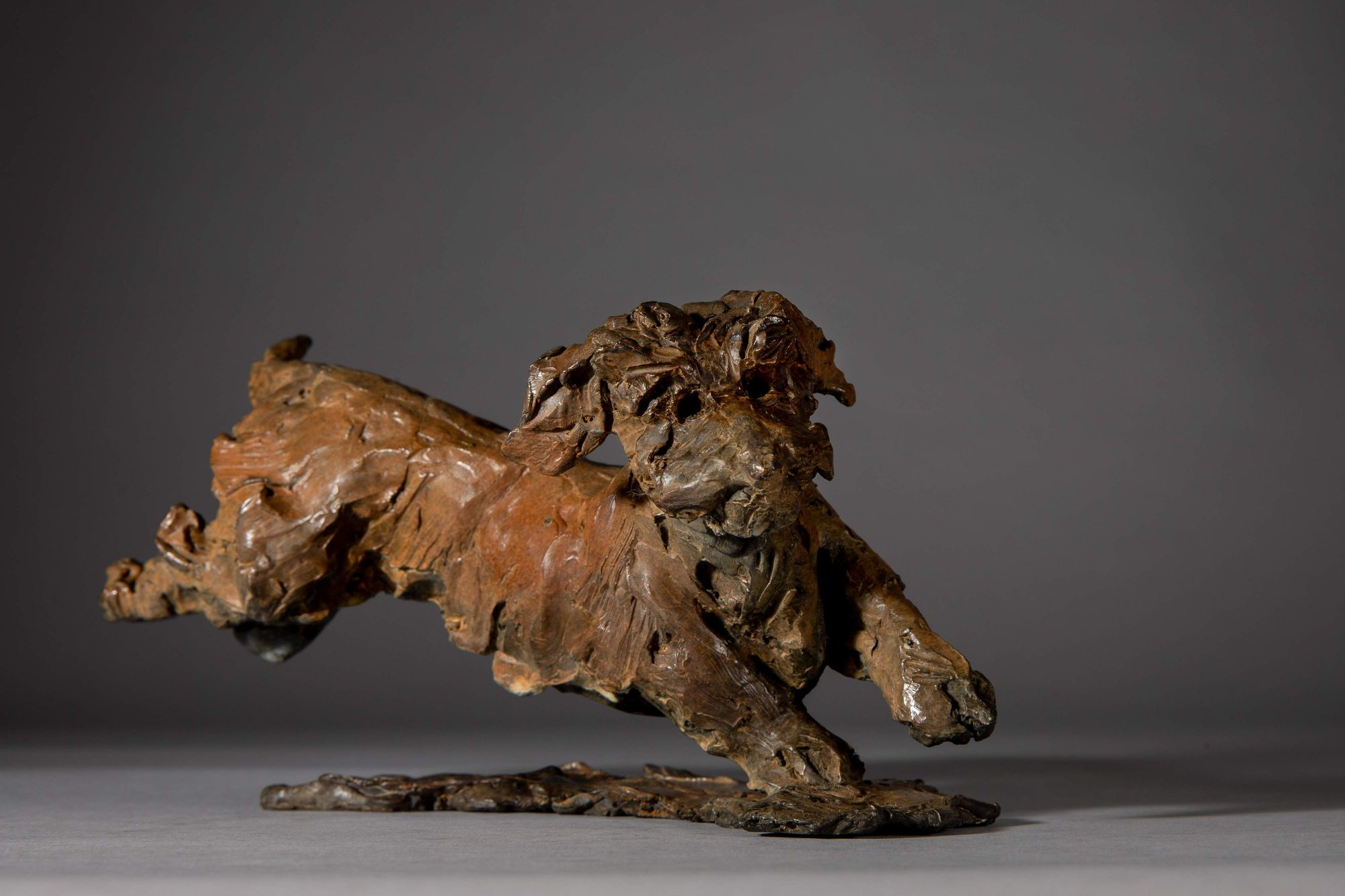 Sculpture - Bronze - Domestic Dog - Dachshund Leaping 1