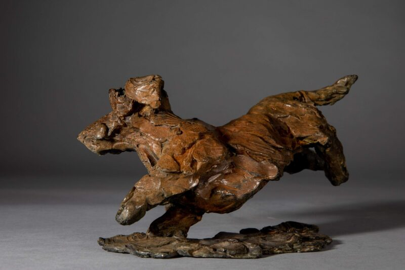 Sculpture - Bronze - Domestic Dog - Dachshund Leaping 3