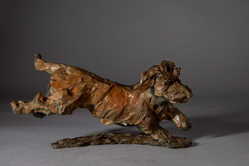 Sculpture - Bronze - Domestic Dog - Dachshund Leaping 5