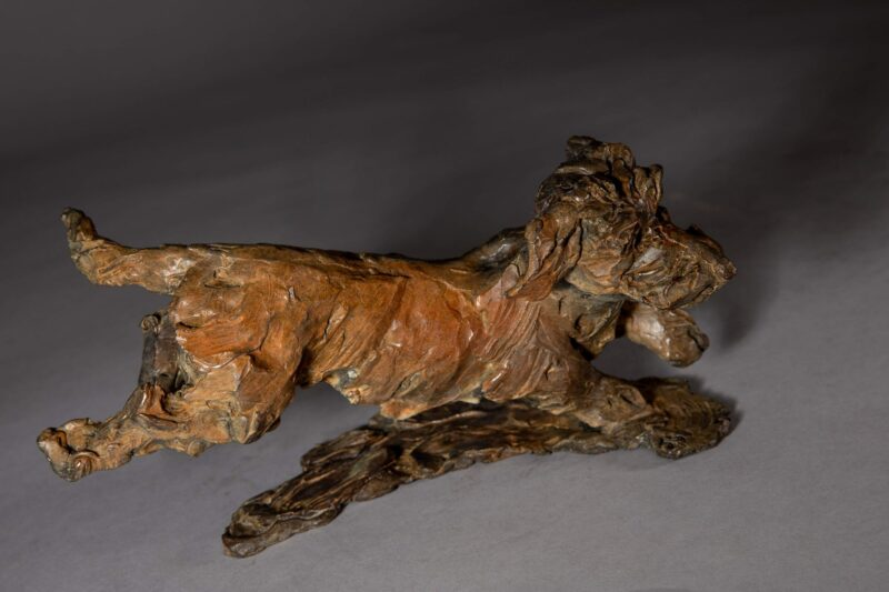 Sculpture - Bronze - Domestic Dog - Dachshund Leaping 6