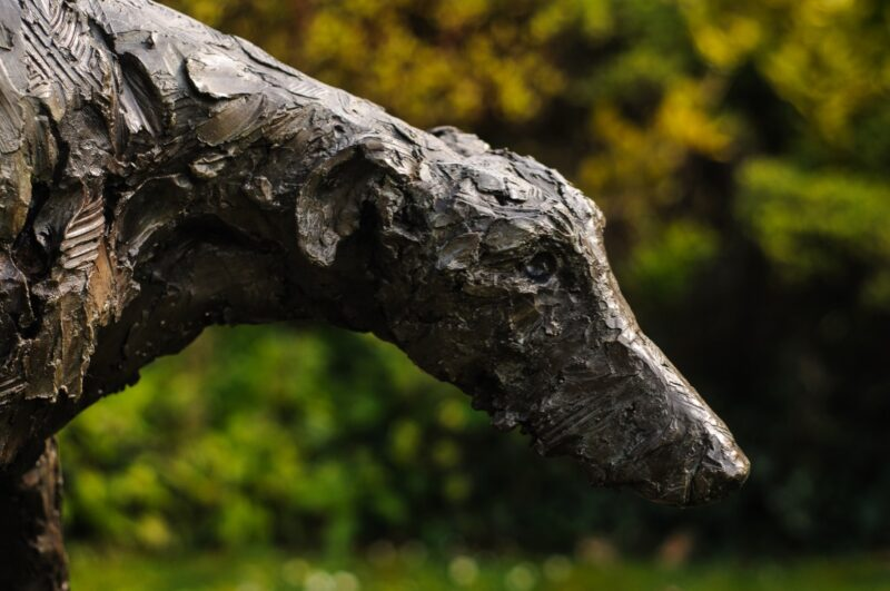 Sculpture - bronze - Domestic - dog - Garden - Lurcher 10