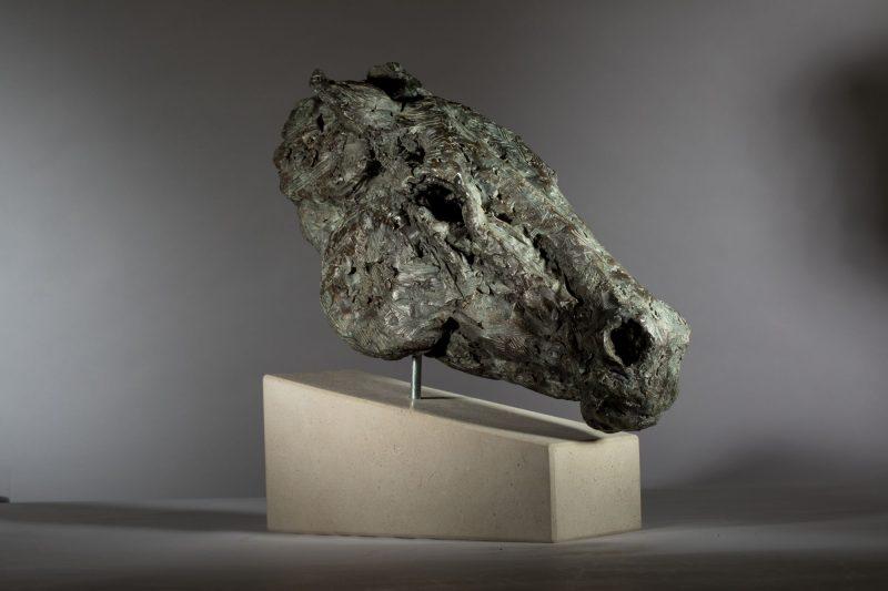 Sculpture - Bronze - Equestrian - Horse Head 4
