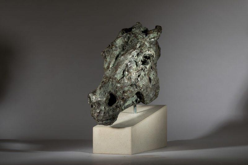 Sculpture - Bronze - Equestrian - Horse Head 8