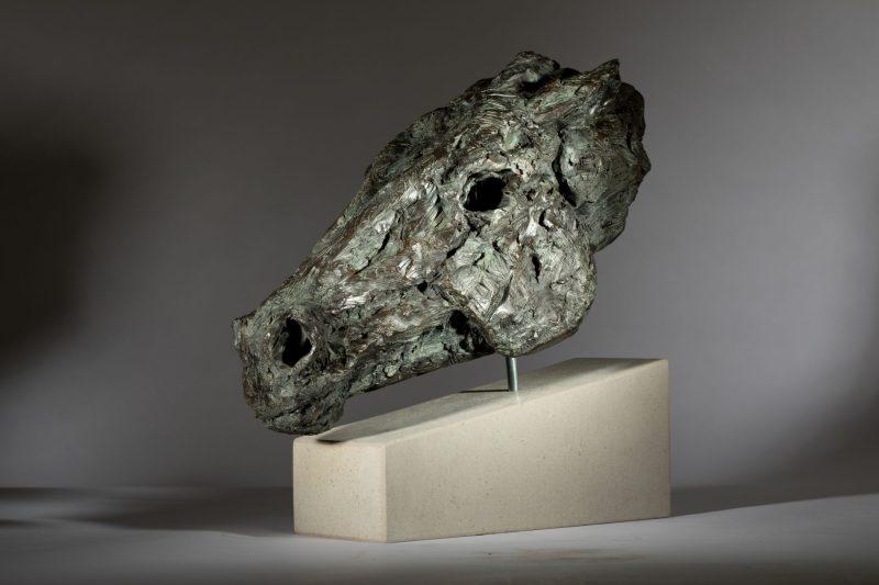 Sculpture - Bronze - Equestrian - Horse Head 9