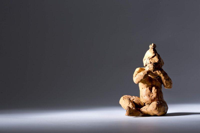 Sculpture - Bronze - Figurative - Sitting Child 2