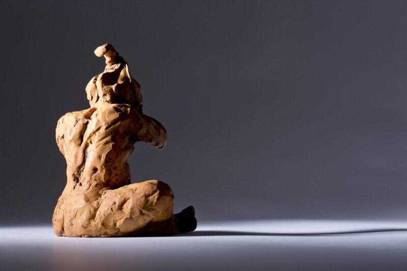 Sculpture - Bronze - Figurative - Sitting Child 5