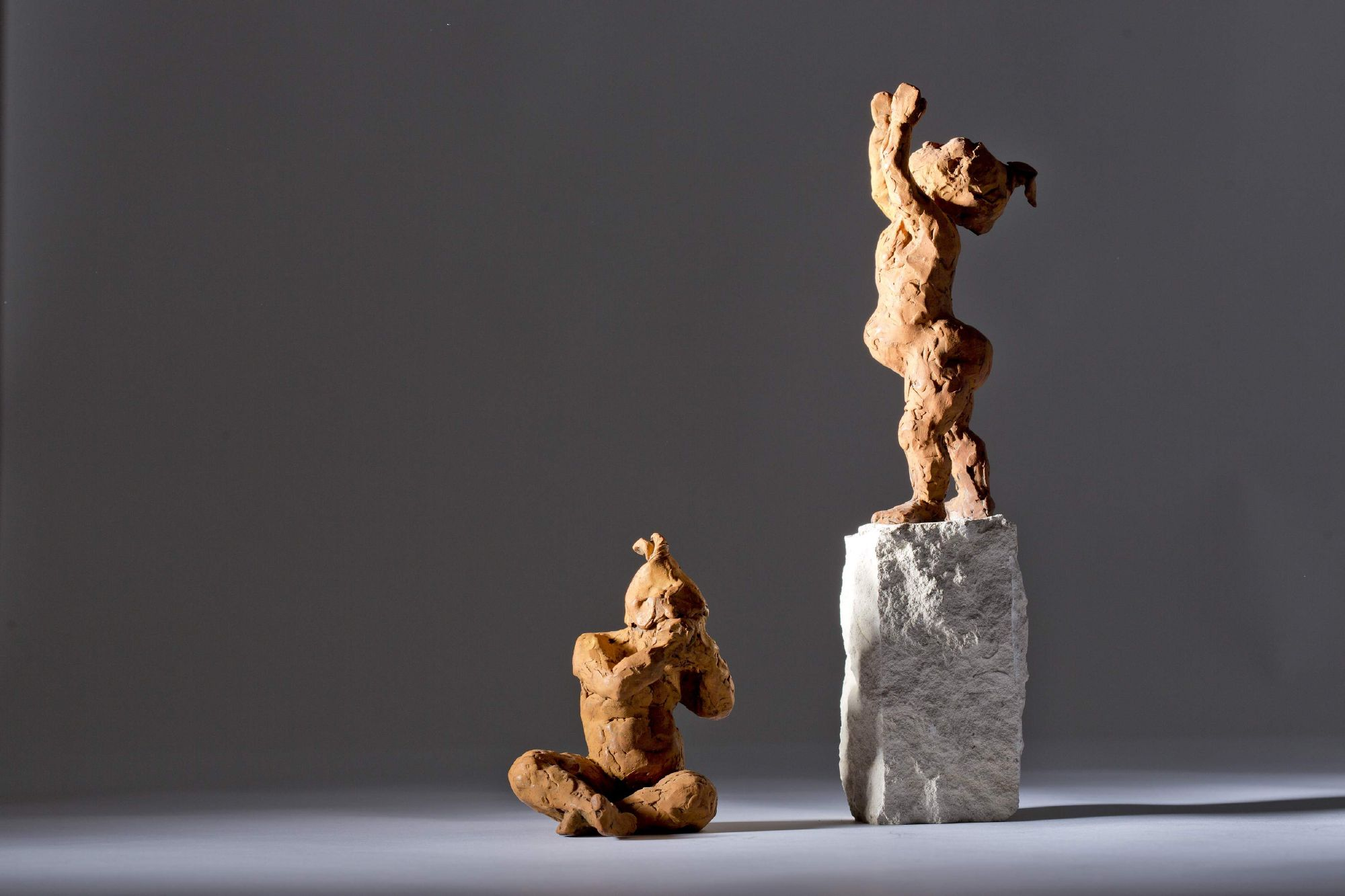 Sculpture - Bronze - Figurative - Two Children 2