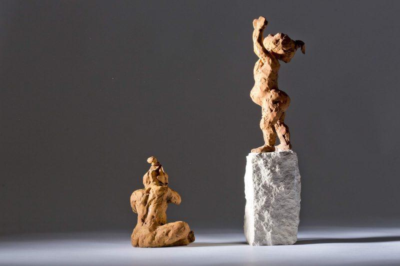 Sculpture - Bronze - Figurative - Two Children 3