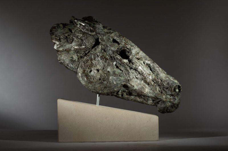 Sculpture - Bronze - Outdoor - Horse Head 1b