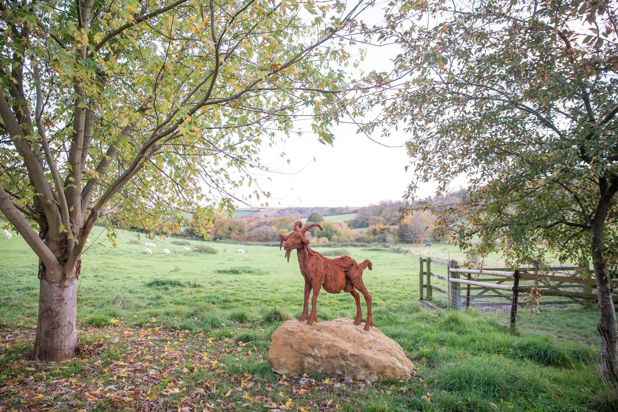 Sculpture - Bronze - Wildlife - Garden Goat 1
