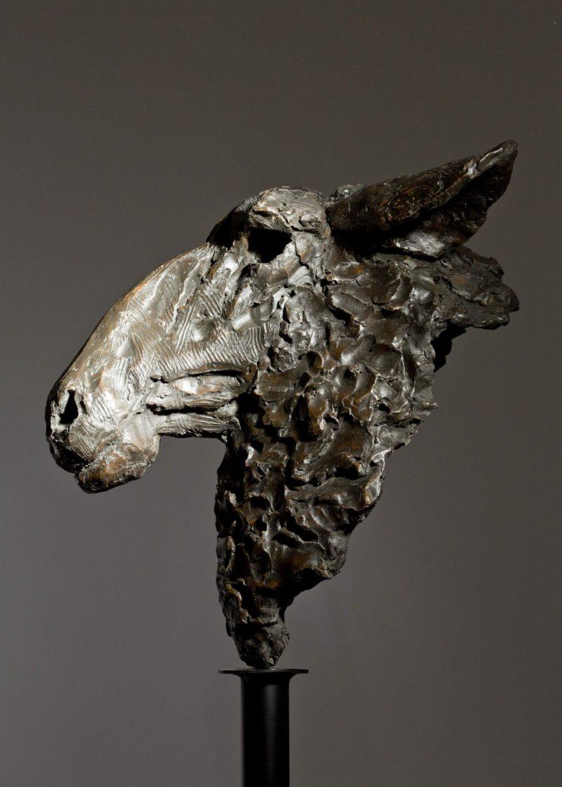 Sculpture - Bronze - Wildlife - Garden Sheep Head 4