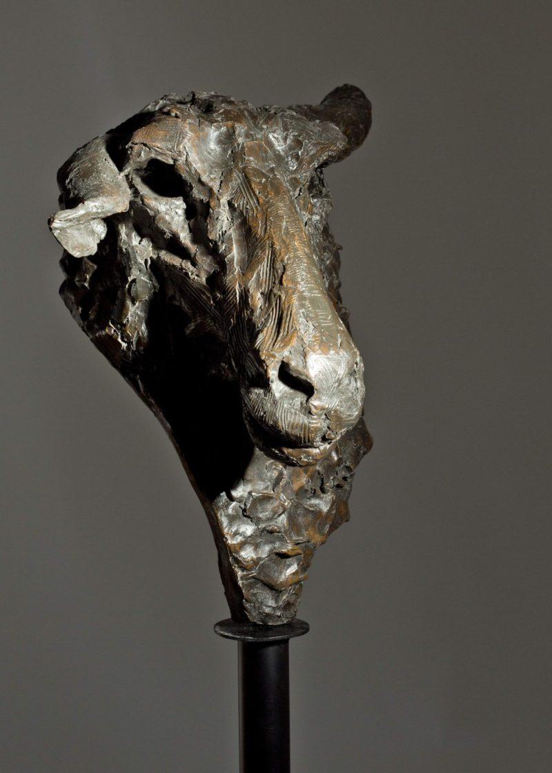Sculpture - Bronze - Wildlife - Garden Sheep Head 7