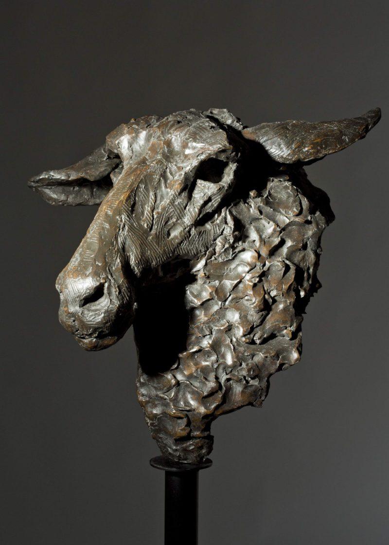 Sculpture - Bronze - Wildlife - Garden Sheep Head 8