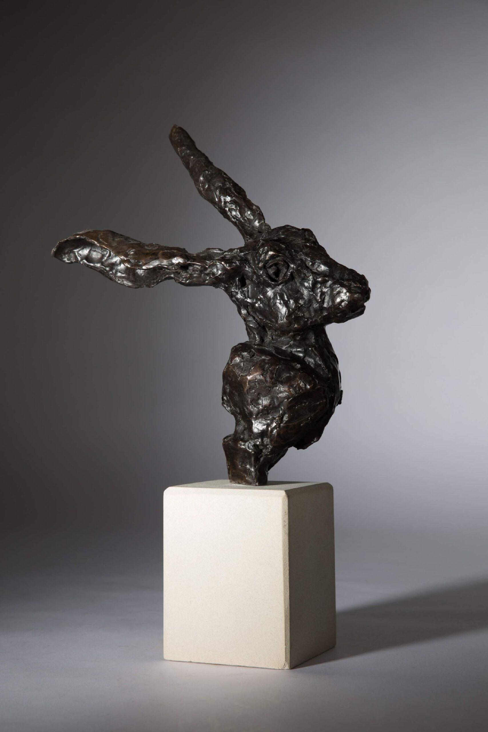 Sculpture - Bronze - Wildlife - Hare Head 1a