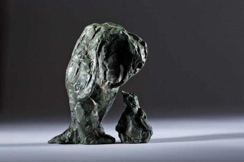Sculpture - Bronze - Wildlife - Mother and Child Penguin 2