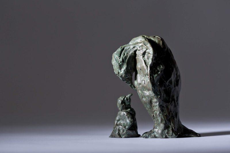 Sculpture - Bronze - Wildlife - Mother and Child Penguin 6