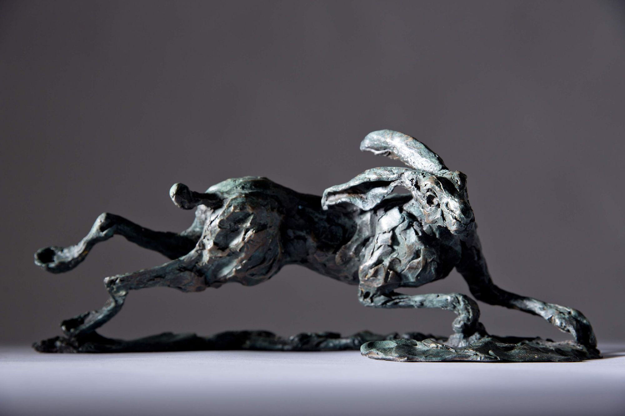 Sculpture - Bronze - Wildlife - Running Hare 1