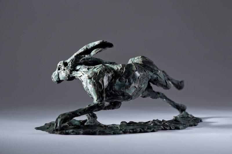 Sculpture - Bronze - Wildlife - Running Hare 6