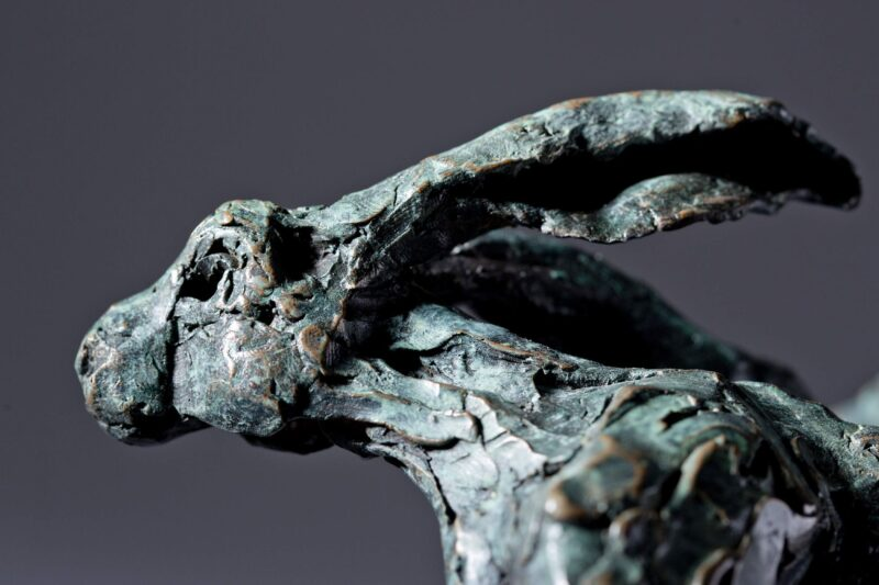 Sculpture - Bronze - Wildlife - Running Hare 7