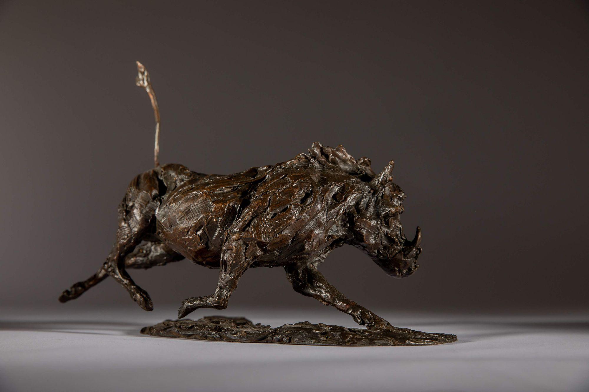 Sculpture - Bronze - Wildlife - Running Warthog 1a