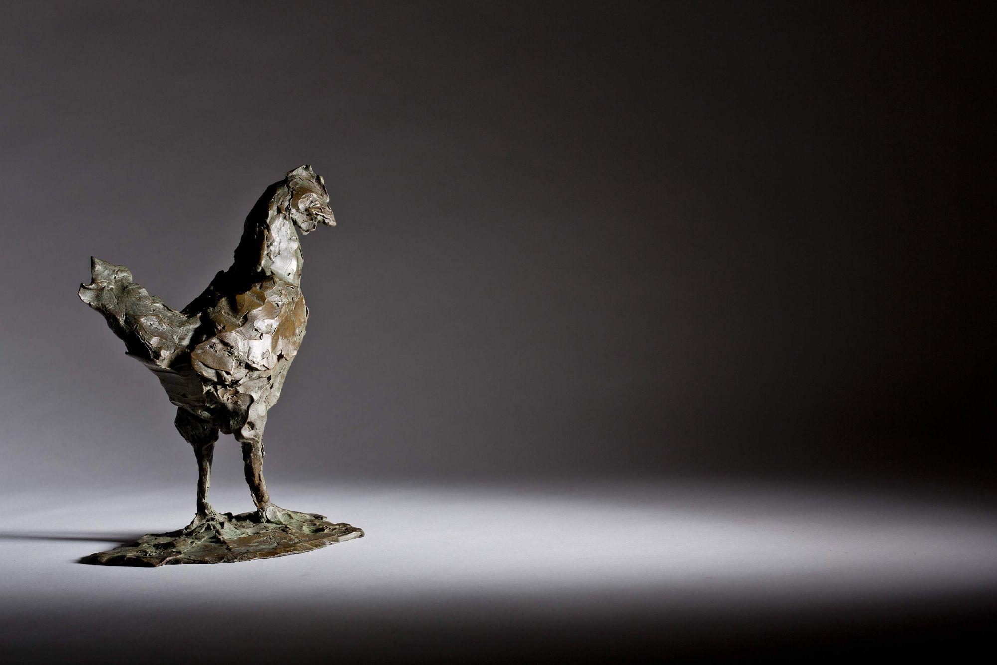 Sculpture - Bronze - Wildlife - Standing Cockerel 1