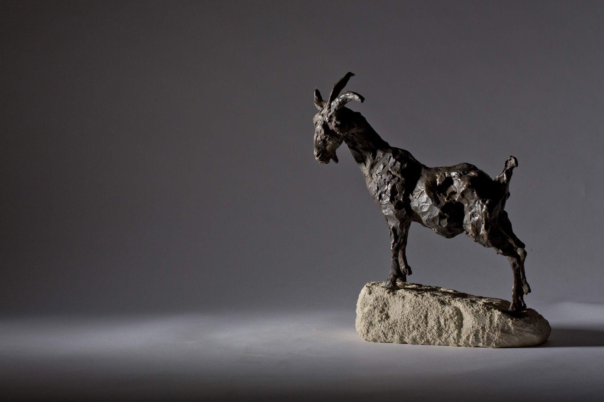 Sculpture - Bronze - Wildlife - Standing Goat 2