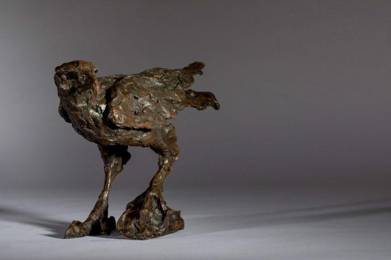 Sculpture - Bronze - Wildlife - Standing Hawk 2