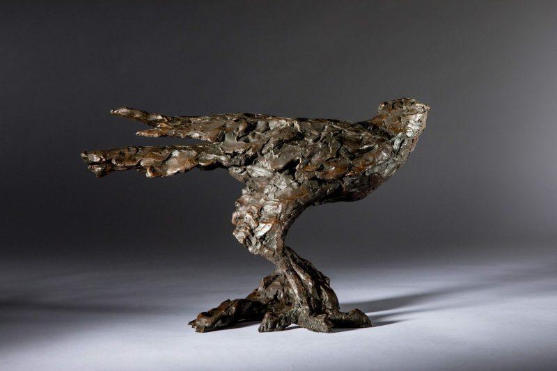 Sculpture - Bronze - Wildlife - Standing Hawk 5