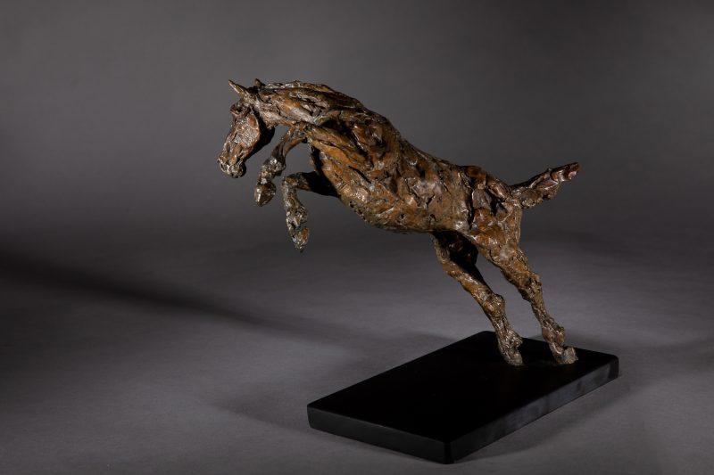 Sculpture - Bronze - Equestrian - Jumping horse 2