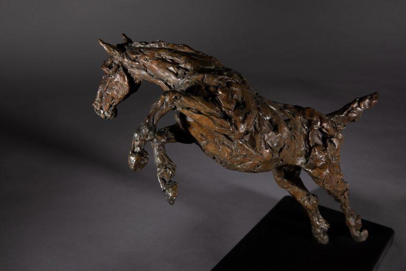 Sculpture - Bronze - Equestrian - Jumping horse 3