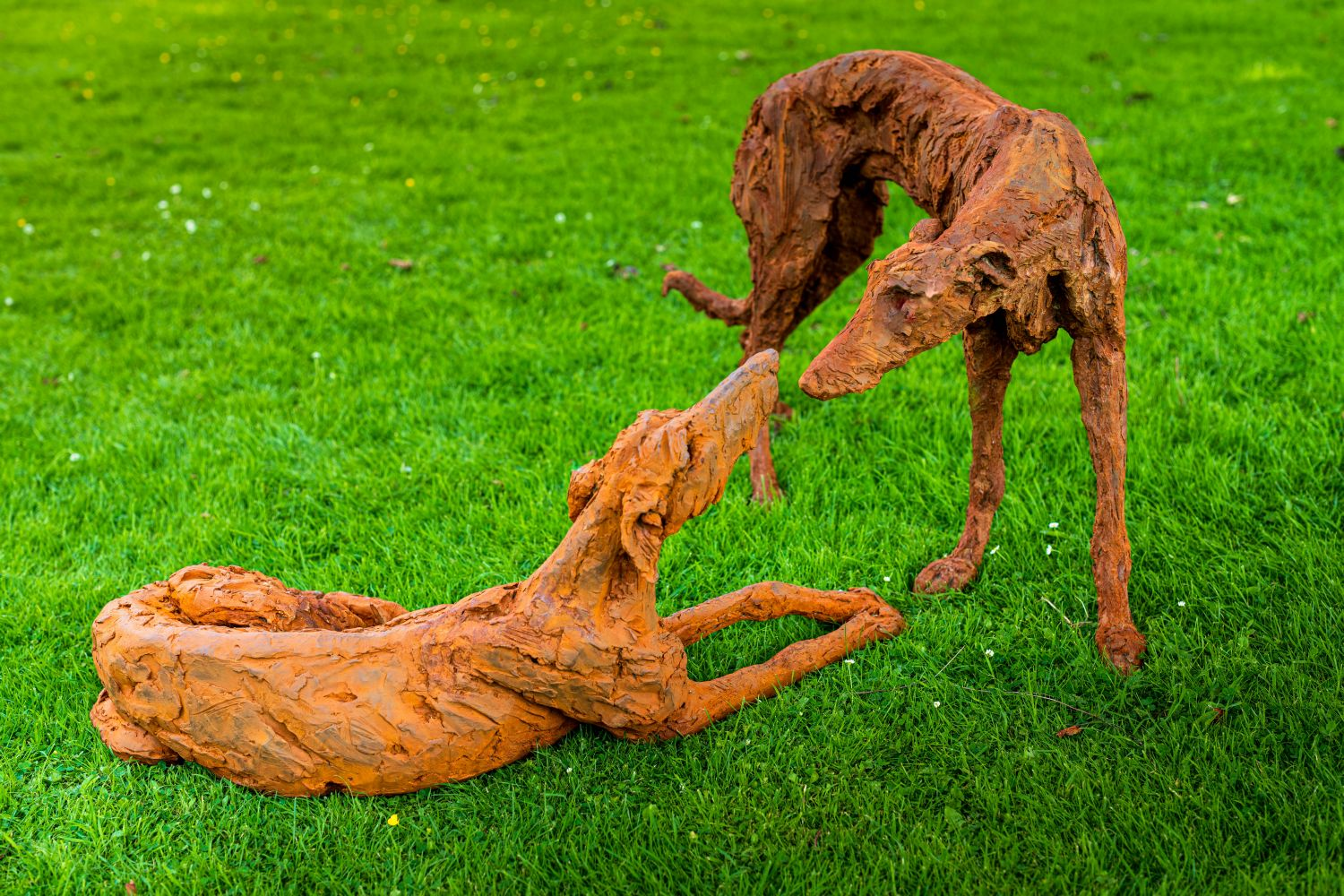 FOREVER FRIENDS – Pair of Lurchers (life-size)